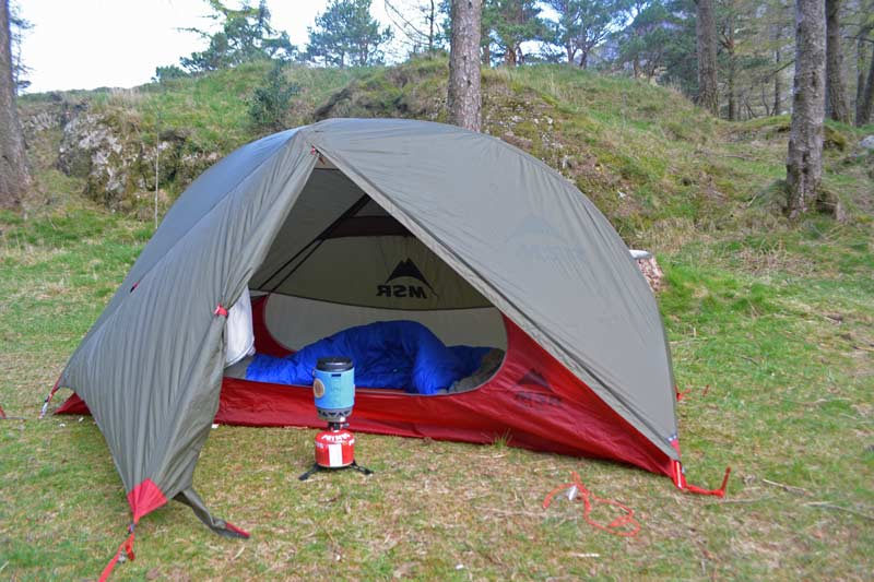 msr hubba one person ultralight tent