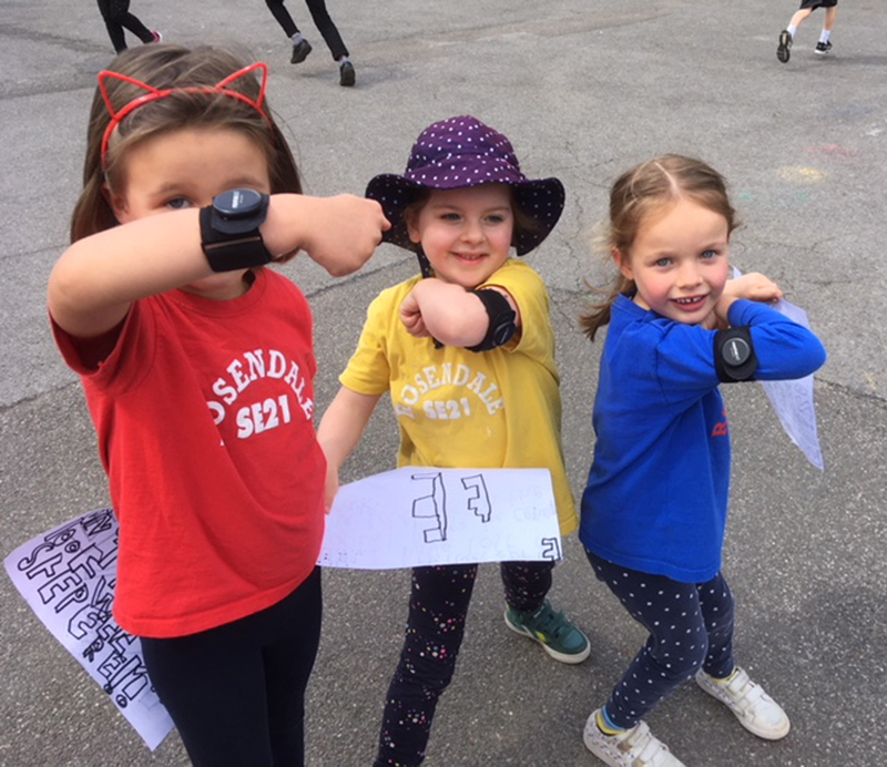 Pupils at Rosendale Primary School during the itsgreatoutthere and ReimaGO project 002
