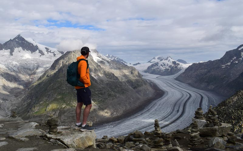 Views of the Aletsch Glacier from the Eggishorn cable car station web