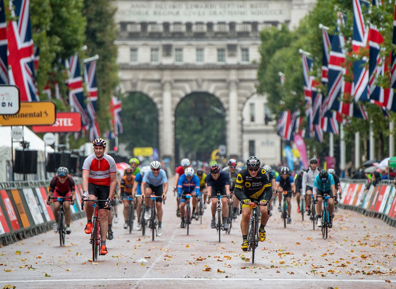 Prudential Ride London-Surrey 100 a Wet and Windy 2018